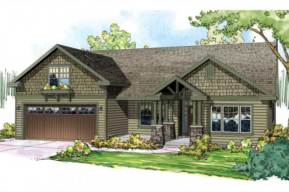 Craftsman House Plan - Sutherlin 30-812 - Front Elevation