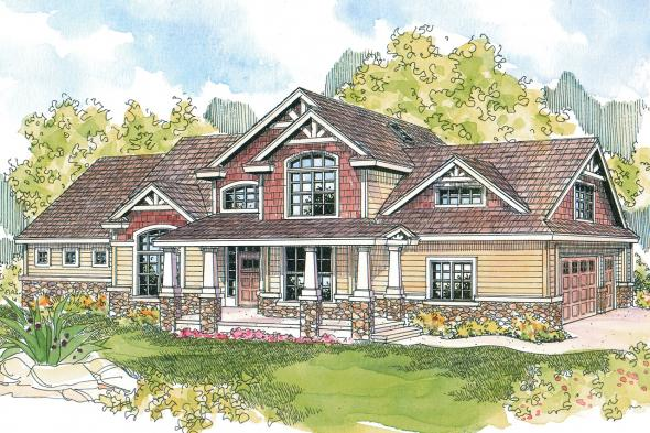 Craftsman House Plan - Tillamook 30-519 - Front Elevation