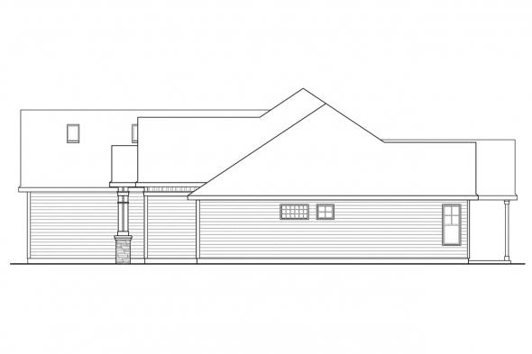 Craftsman House Plan - Willamette 30-788 - Right Elevation
