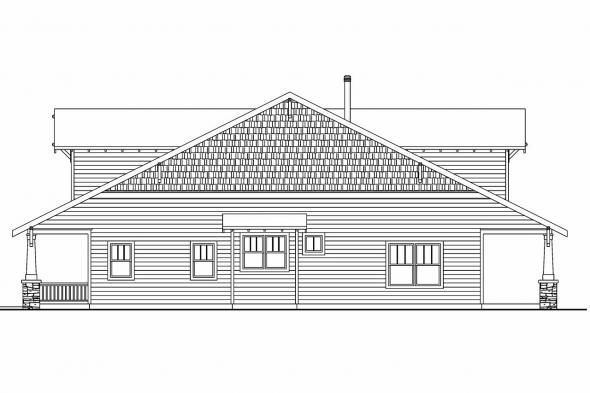 Craftsman House Plan - Wisteria 30-655 - Right Elevation