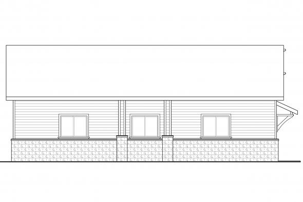 Detached Garage Plan 20-131 - Left Elevation