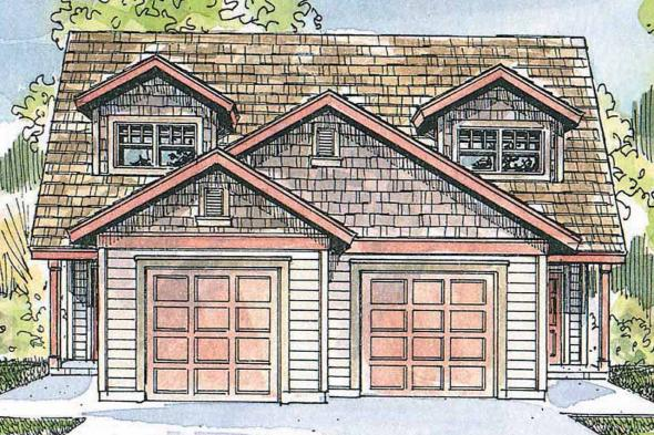 Duplex Plan - Braydon 60-012 - Front Elevation