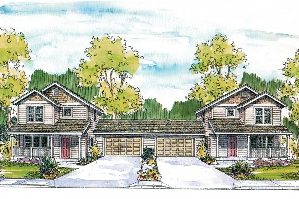 Duplex Plan - Kentland 60-015 - Front Elevation