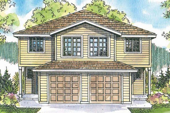 Duplex Plan - Toliver 60-020 - Front Elevation