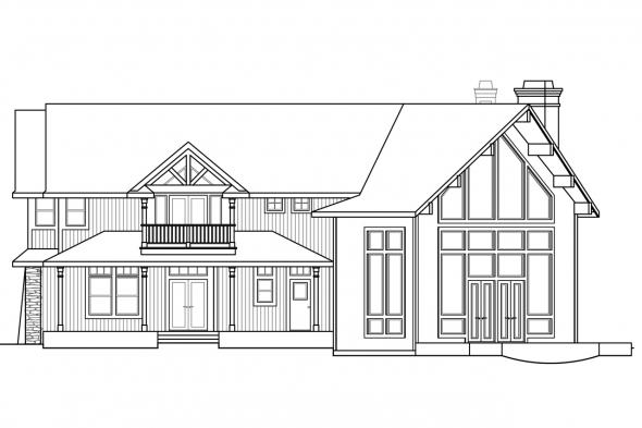 Estate House Plan - Bentonville 30-275 - Rear Elevation