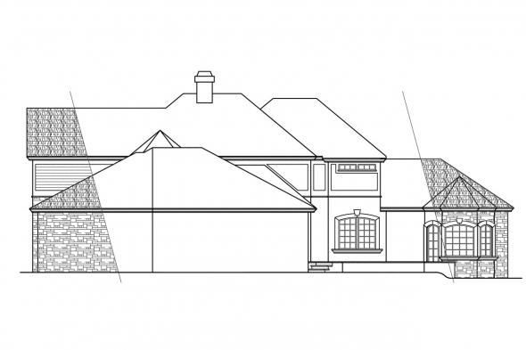 Estate House Plan - Wilshire 10-031 - Rear Elevation