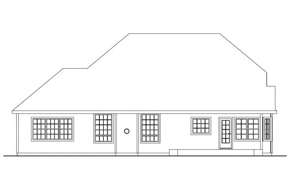 European Home Plan - Fitzgerald 30-492 - Rear Elevation
