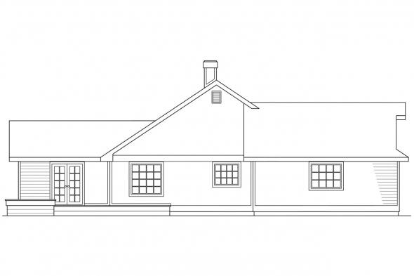 European House Plan - Beaumont 10-052 - Left Elevation