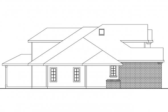 European House Plan - Bloomsburg 30-667 - Left Elevation