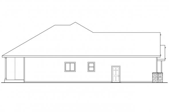 European House Plan - Cascadia 30-804 - Left Elevation