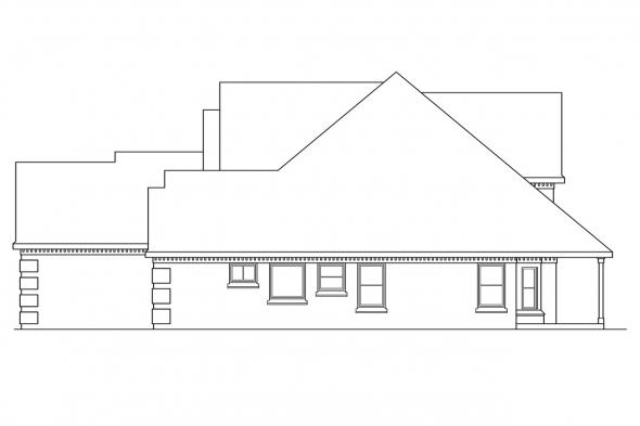 European House Plan - Centralia 30-164 - Right Elevation