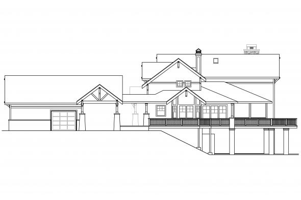 European House Plan - Colorado 30-541 - Right Elevation