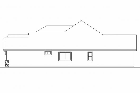 European House Plan - Dalneigh 30-709 - Right Elevation