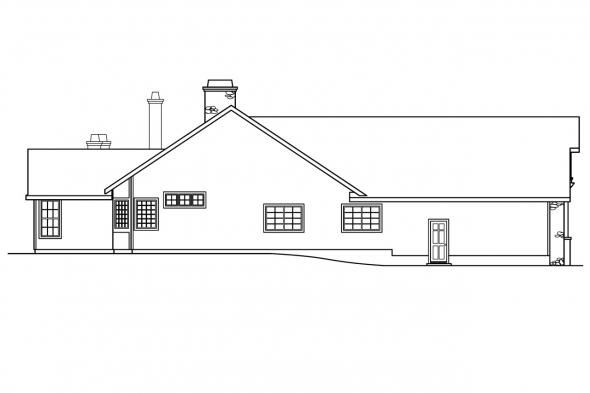 European House Plan - Gideon 30-256 - Left Elevation