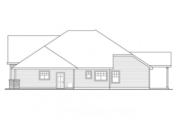 European House Plan - Heartington 10-550 - Left Elevation