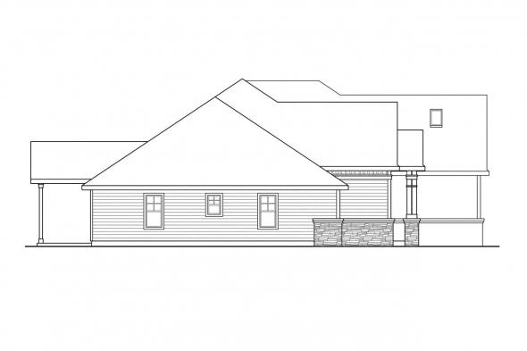 European House Plan - Heartington 10-550 - Right Elevation