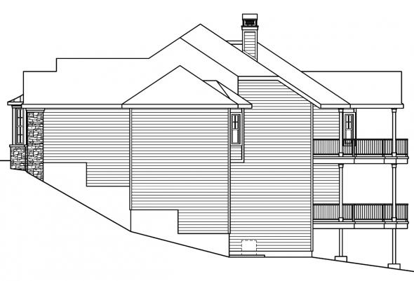 European House Plan - Lethbridge 30-586 - Right Elevation