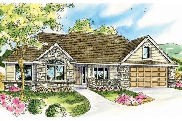 European House Plan - Littlefield 30-717 - Front Elevation