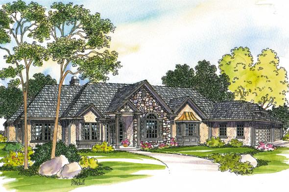 European House Plan - Macon 30-229 - Front Elevation