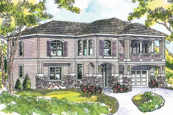 European House Plan - Marianna 30-592 - Front Elevation