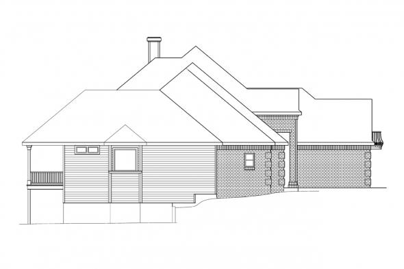 European House Plan - Merritt 30-145 - Left Elevation