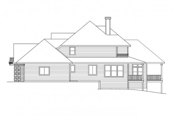 European House Plan - Merritt 30-145 - Right Elevation