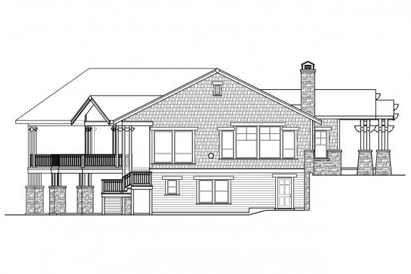 European House Plan - Northbrook 30-898 - Left Elevation