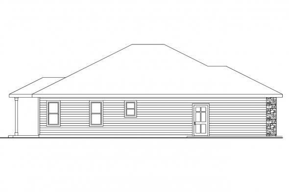 European House Plan - Riverside 30-658 - Left Elevation