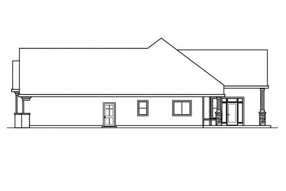 European House Plan - Rosemont 30-376 - Right Elevation