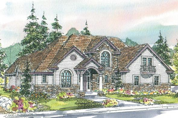 European House Plan - Southwick 30-482 - Front Elevation