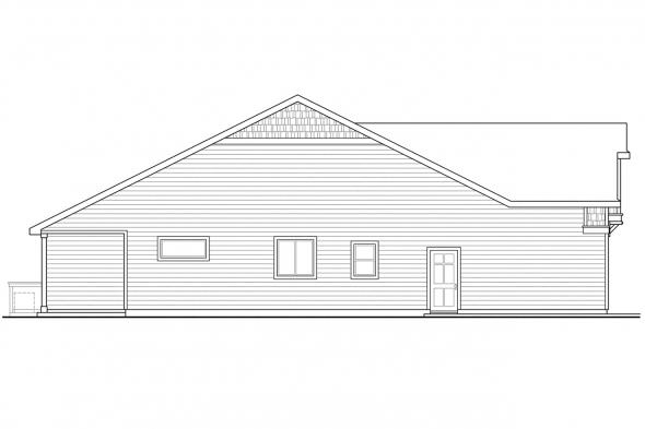 European House Plan - Sutherlin 30-812 - Left Elevation
