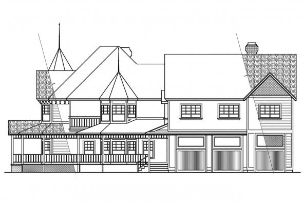 European House Plan - Victorian 10-027 - Right Elevation