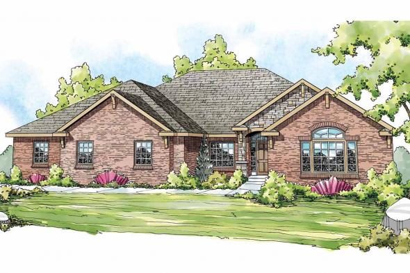 European House Plan - Winterberry 30-742 - Front Elevation