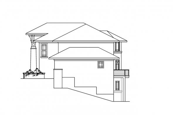 Florida House Plan - Belle Vista 30-274 - Right Elevation