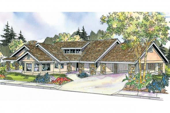 Florida House Plan - Burnside 30-657 - Front Elevation