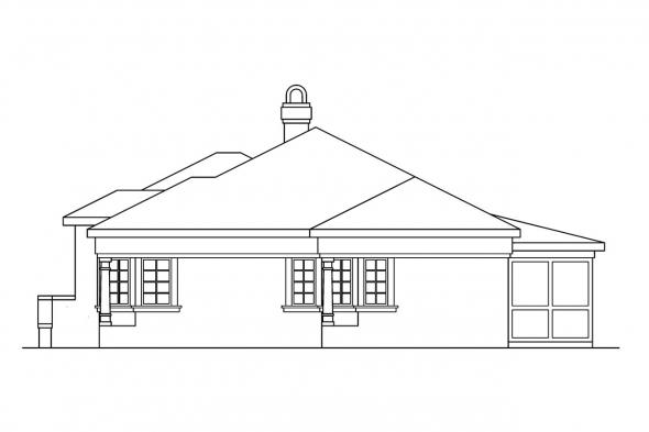 Florida House Plan - Carrizo 11-010 - Right Elevation