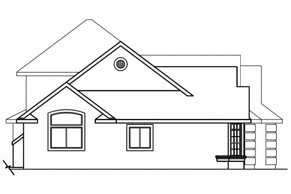 Florida House Plan - Mansura 30-188 - Left Elevation