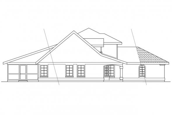 Florida House Plan - Merida 11-009 - Left Elevation