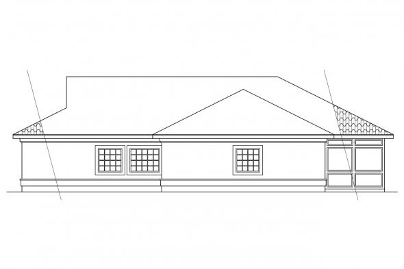 Florida House Plan - Odessa 11-021 - Right Elevation