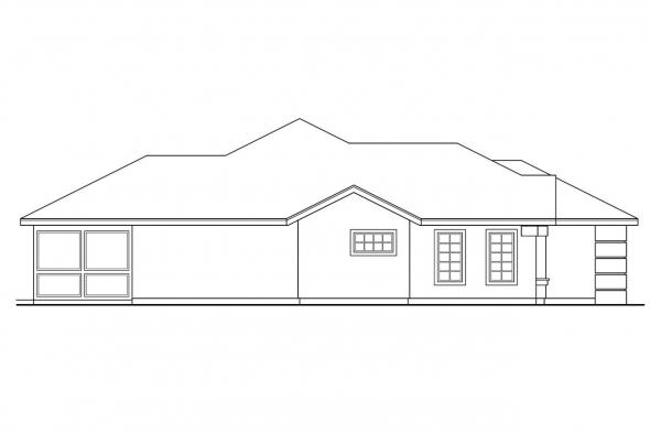 Florida House Plan - Pereza 11-075 - Left Elevation