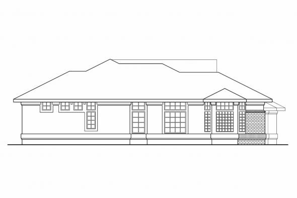 Florida House Plan - Riveria 11-072 - Left Elevation