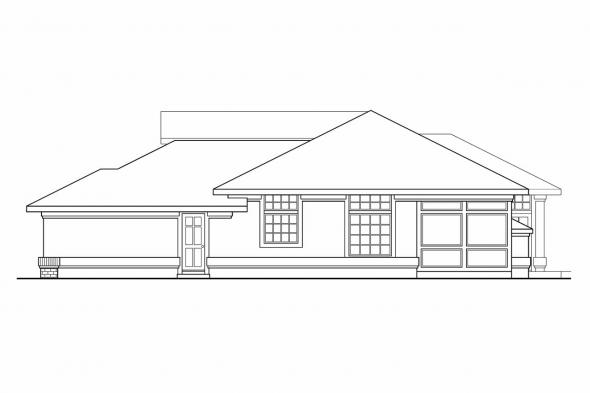 Florida House Plan - Riveria 11-072 - Right Elevation