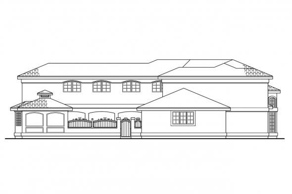 Florida House Plan - Savannah 11-035 - Left Elevation