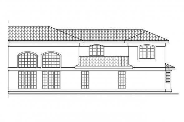 Florida House Plan - Savannah 11-035 - Right Elevation