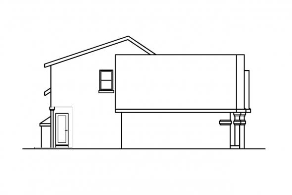 Florida House Plan - Siena 30-186 - Left Elevation