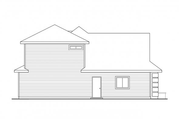 Florida House Plan - Strasbourg 30-146 - Left Elevation