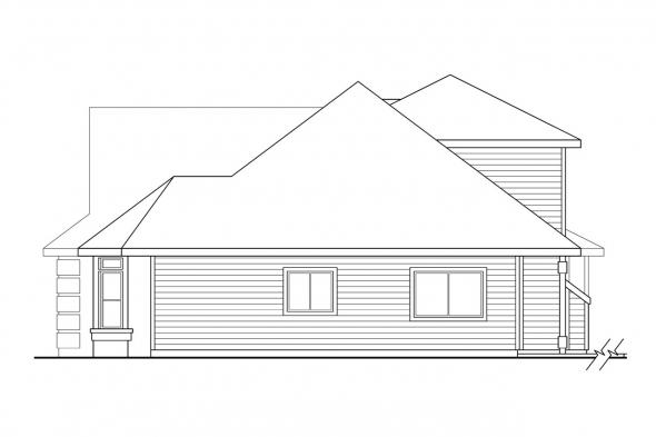 Florida House Plan - Strasbourg 30-146 - Right Elevation