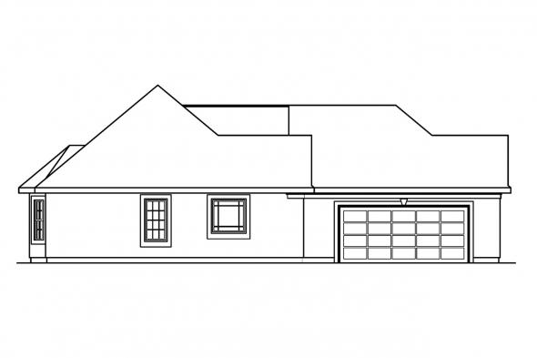 Florida House Plan - Whitmore 30-335 - Left Elevation