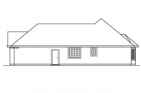 Florida House Plan - Whitmore 30-335 - Right Elevation