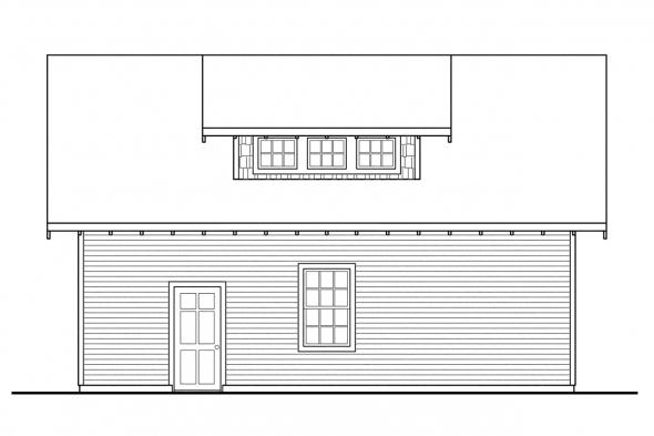 Garage Design 20-049 - Right Elevation